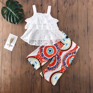 None Other - 2pcs Ruffle set for Girls
